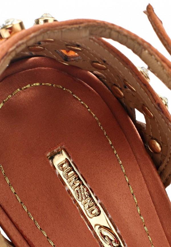 фото Босоножки на платформе Dumond DU593AWAET99, коричневые/шпилька