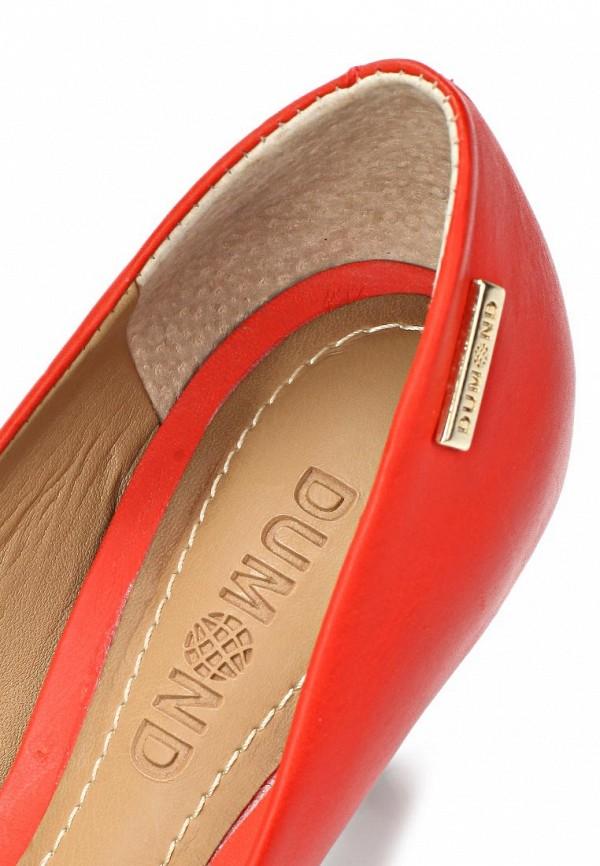 фото Туфли с открытым носом Dumond DU593AWAEU12, красные/каблук