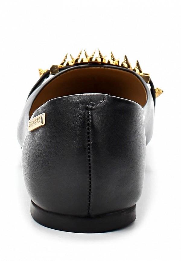 фото Балетки на каблуке Dumond DU593AWAEU16, черные кожаные
