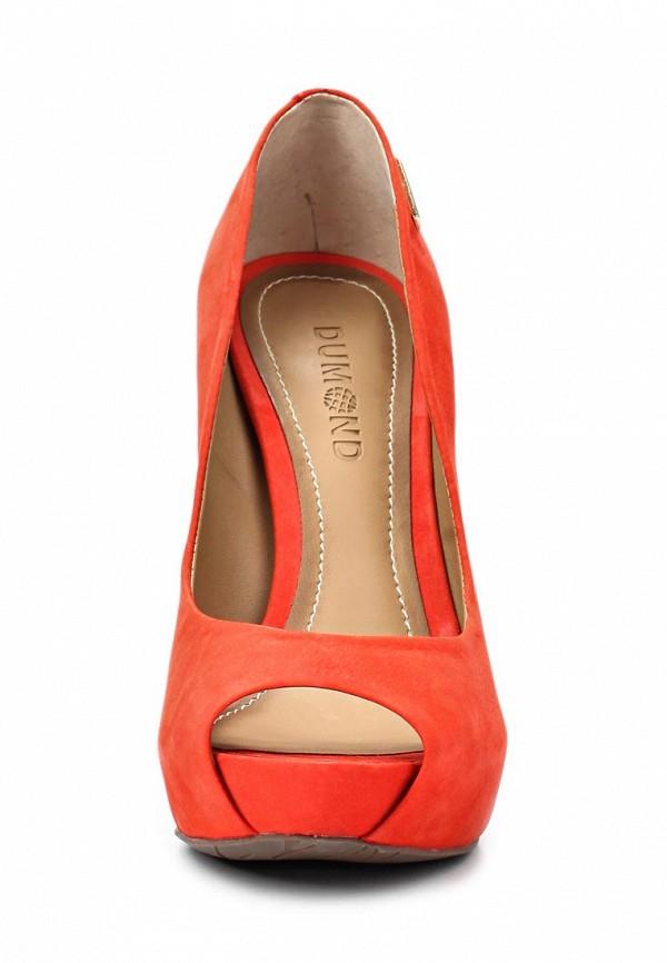 фото Туфли на платформе и каблуке Dumond DU593AWAEU17, красные/открытый нос