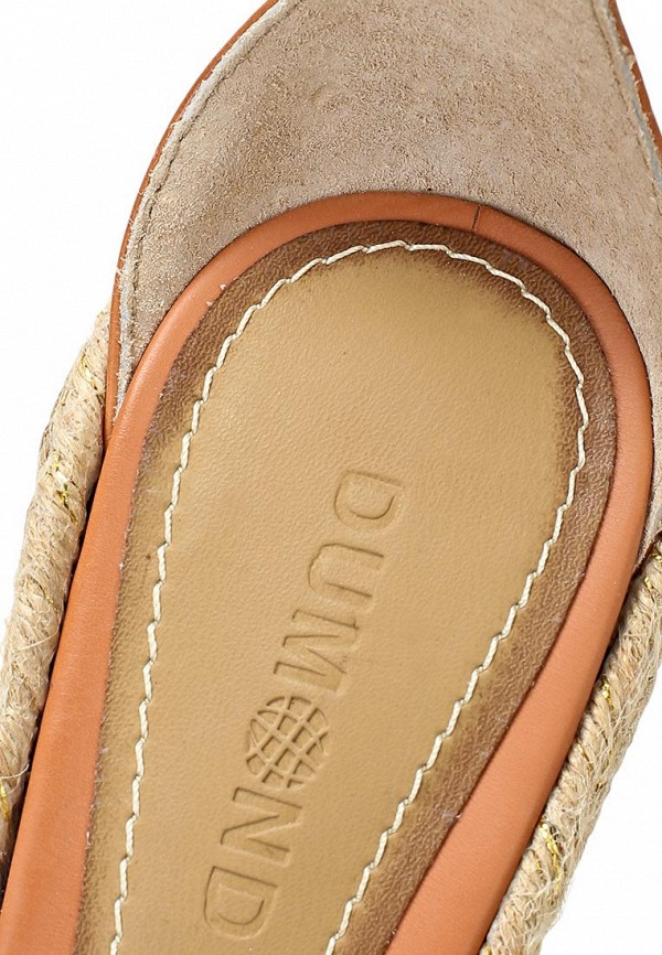 фото Эспадрильи на платформе Dumond DU593AWARH17, коричневые