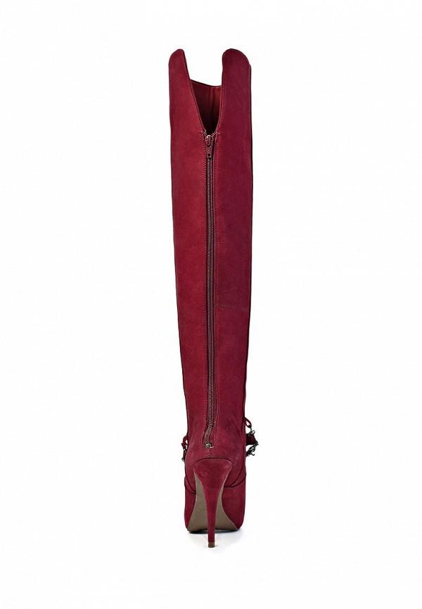 фото Женские сапоги-ботфорты на каблуке Dumond DU593AWKV442, бордовые