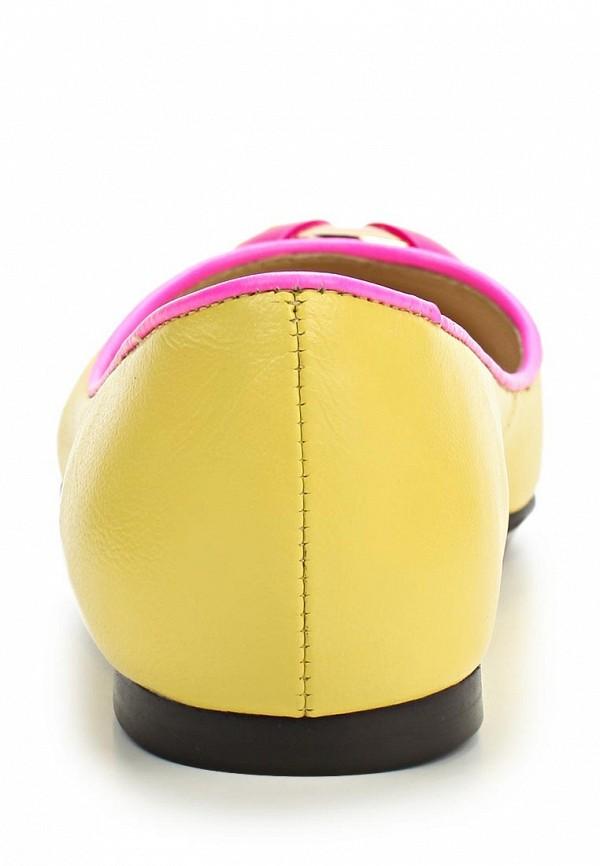 фото Балетки женские El Tempo EL072AWAKP57, желтые кожаные