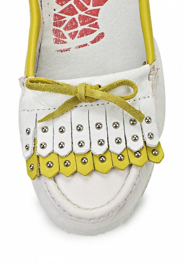 фото Мокасины женские El Tempo EL072AWAKQ09, белые с желтым