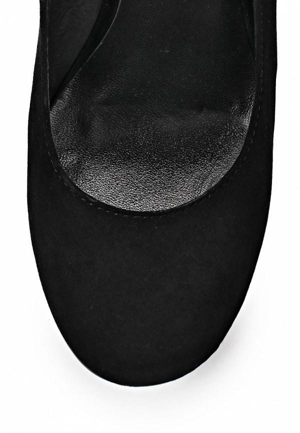 фото Туфли на танкетке El Tempo EL072AWAKQ96, черные замшевые