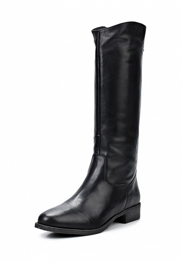 фото Сапоги женские на каблуке El Tempo EL072AWCND89, черные кожаные