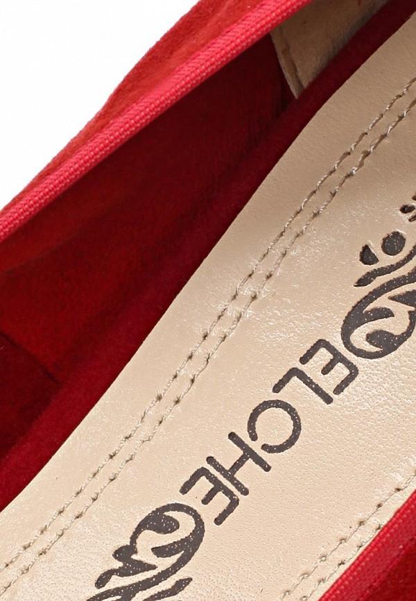 фото Туфли на толстом каблуке Elche EL242AWBGB09, красные