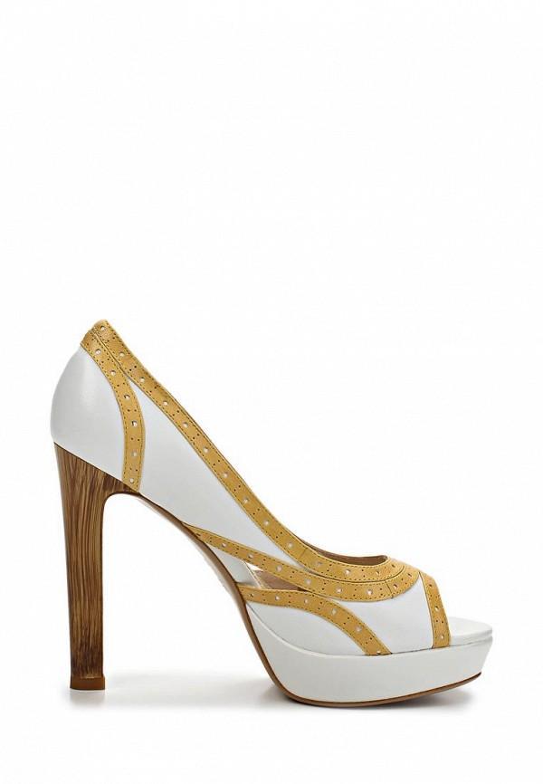фото Туфли на платформе и каблуке Elche EL242AWBPA90, бежево-белые