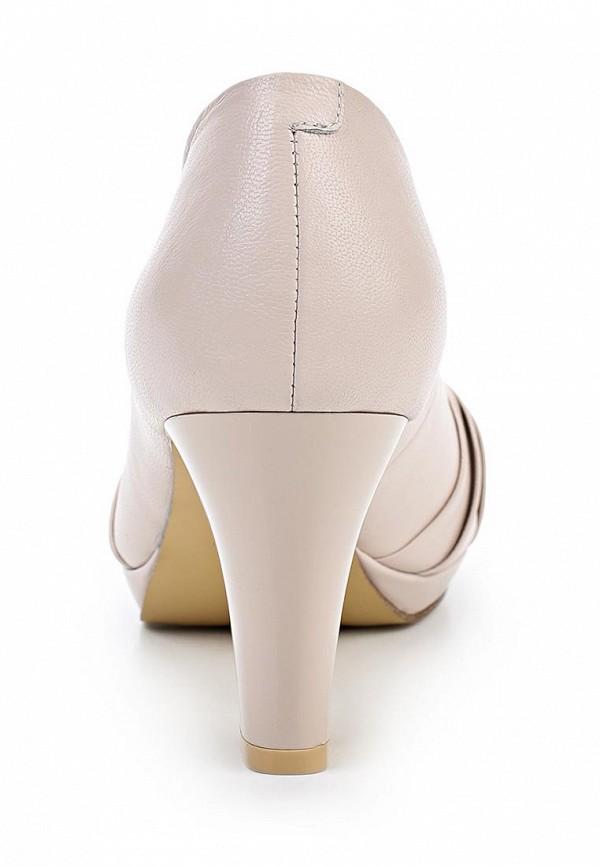 фото Туфли на толстом каблуке Elche EL242AWBPQ11, розовые с открытым носом