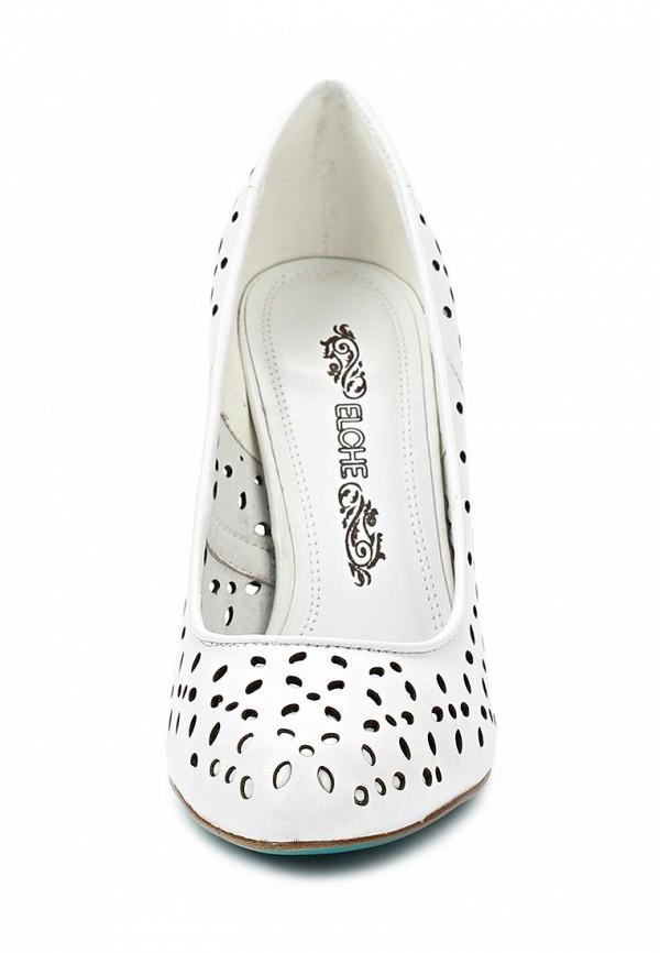 фото Туфли на каблуке Elche EL242AWBRB90, белые