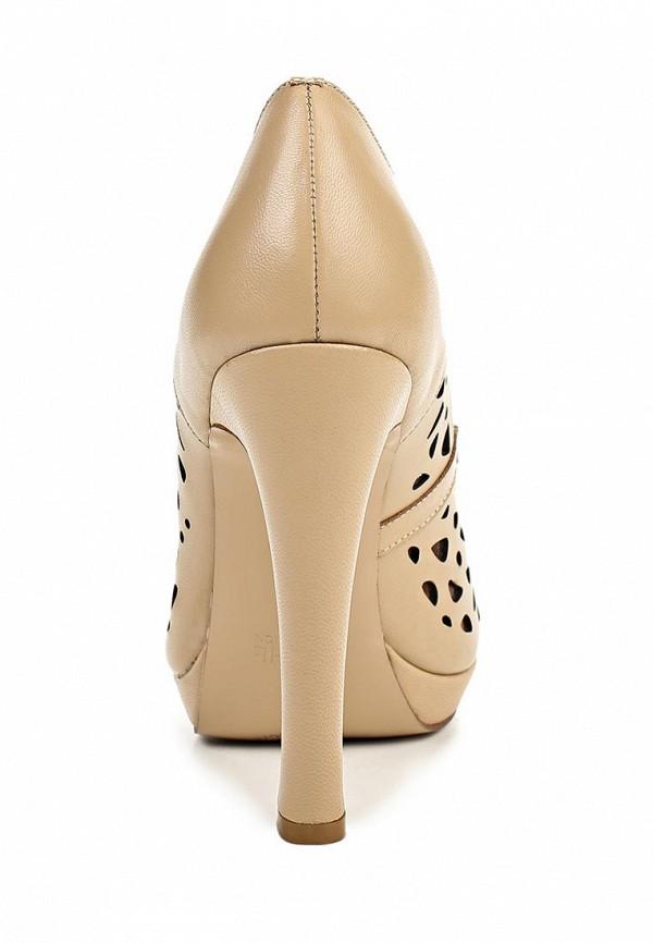 фото Туфли на платформе и каблуке Elche EL242AWBRB96, бежевые (кожа)