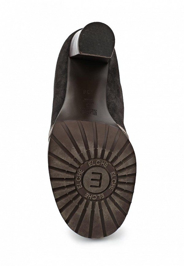 фото Ботильоны на толстом каблуке Elche EL242AWED046, на шнуровке