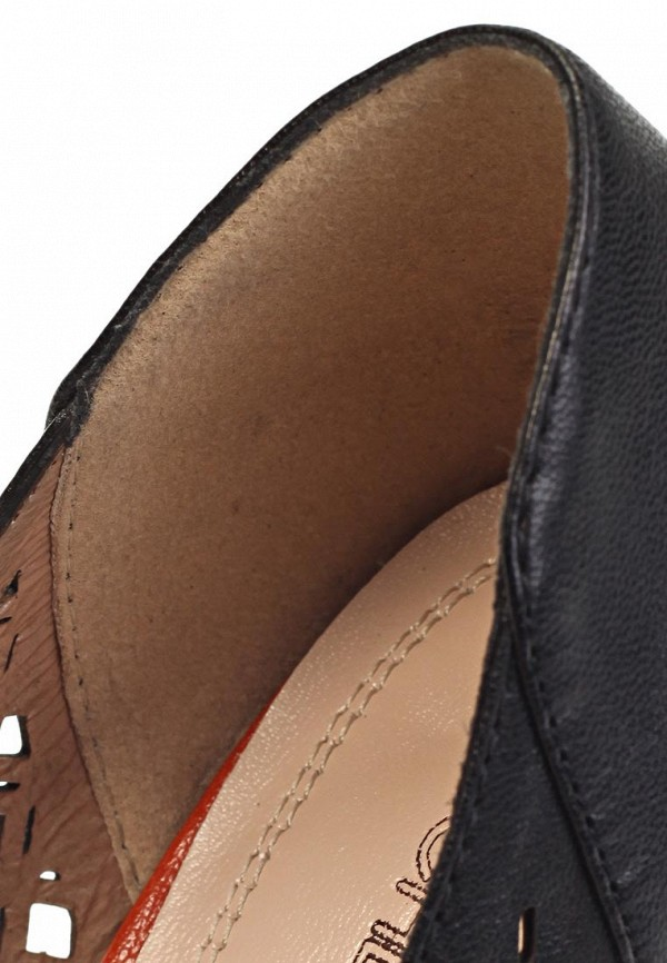 фото Туфли на каблуке с открытым носом Elche EL242AWIA155, черные/платформа