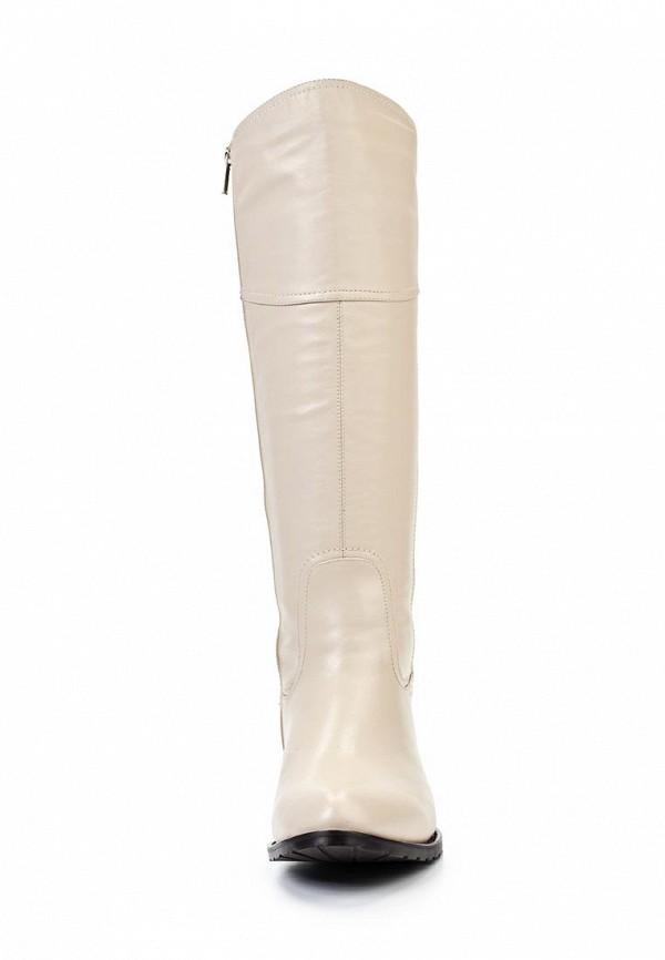 фото Сапоги женские на плоской подошве Elche EL242AWJX809, белые кожаные