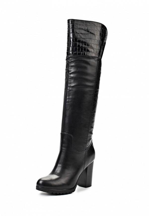 фото Сапоги женские на высоком каблуке Elche EL242AWJX838, черные кожаные