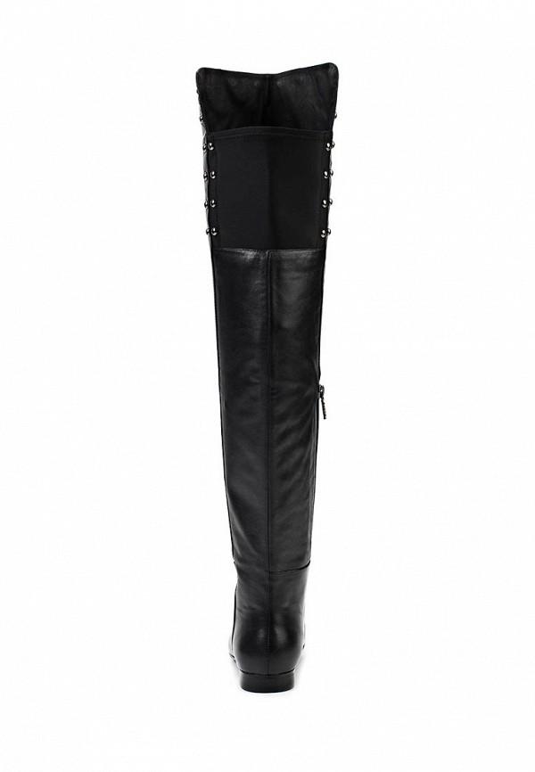 фото Сапоги-ботфорты женские Elche EL242AWJX856, черные кожаные