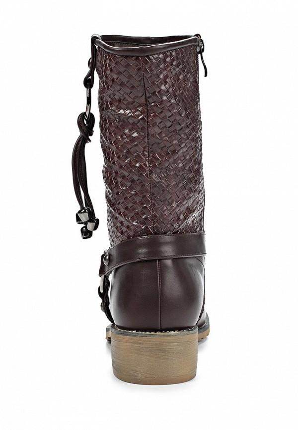 фото Женские полусапожки на каблуке Elche EL242AWJX905, коричневые