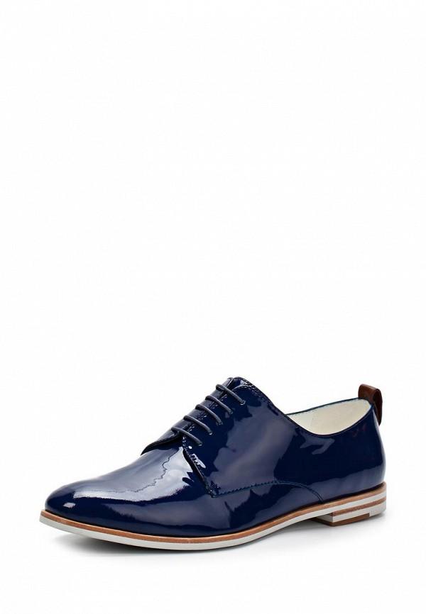 фото Женские лаковые ботинки Elmonte EL596AWBBI84, синие кожаные