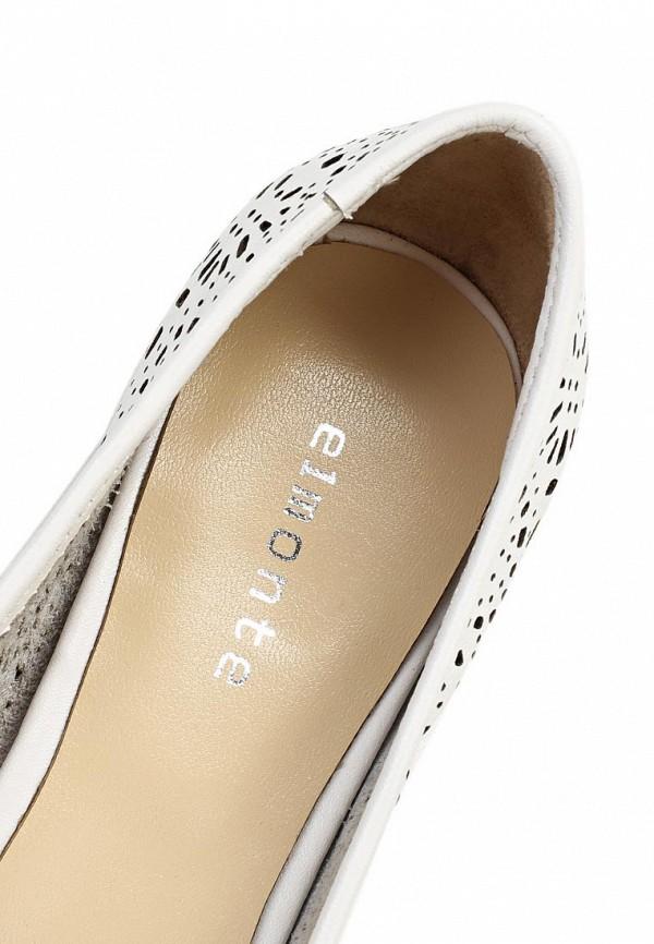 фото Лоферы женские на каблуке Elmonte EL596AWBBJ15, белые