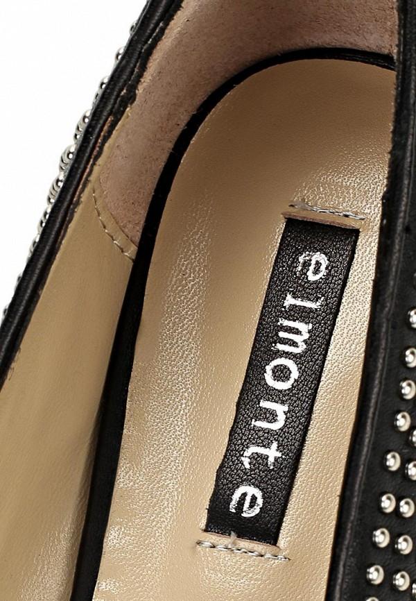 фото Лоферы женские на каблуке Elmonte EL596AWBBJ26, черные