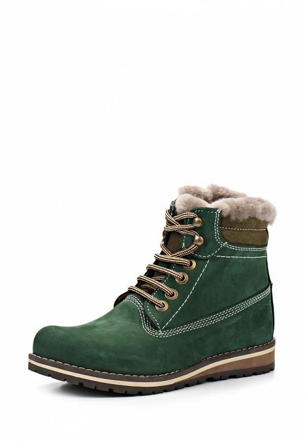 Ботинки Ergo. Цвет: зеленый
