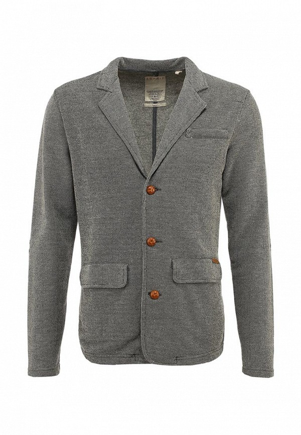 Пиджак Esprit ES393EMLL692. Цвет: серый