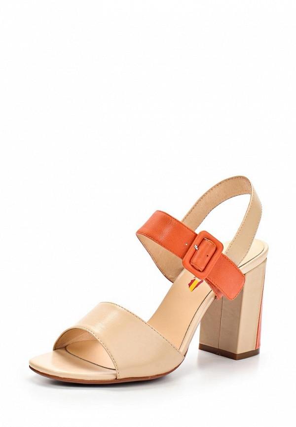 фото Босоножки на толстом каблуке Evita EV002AWAYM18, бежевые