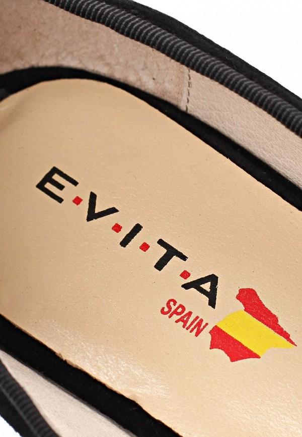 фото Туфли-лоферы на толстом каблуке Evita EV002AWCKS72, черные