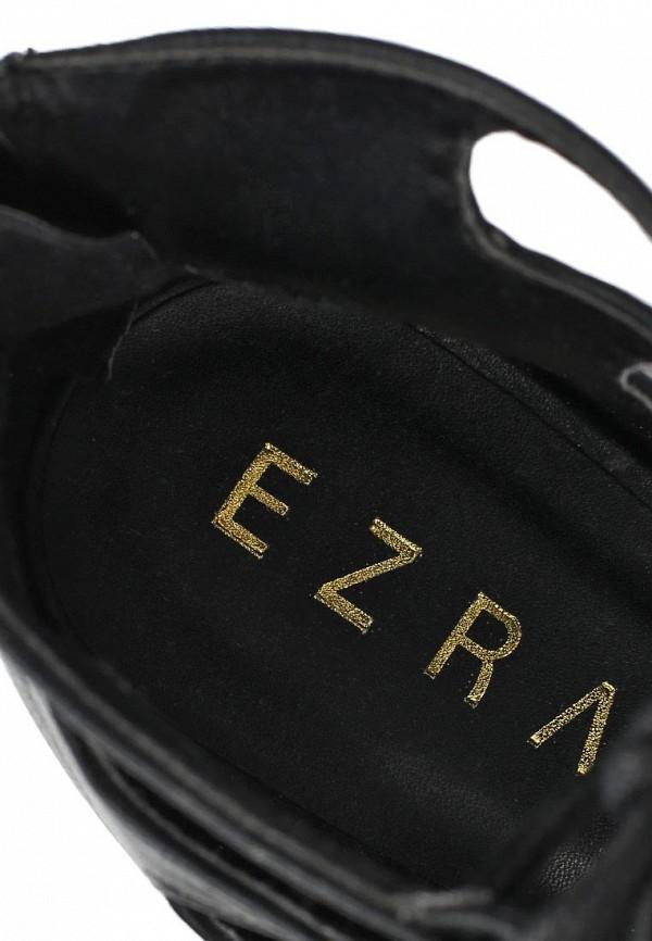 фото Туфли с открытым носом на каблуке EZRA EZ001AWAFI53, черные