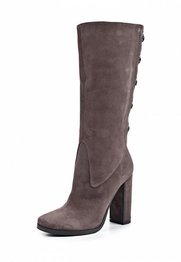 фото Сапоги женские на высоком каблуке Fabi FA075AWJS884, коричневые (замша)