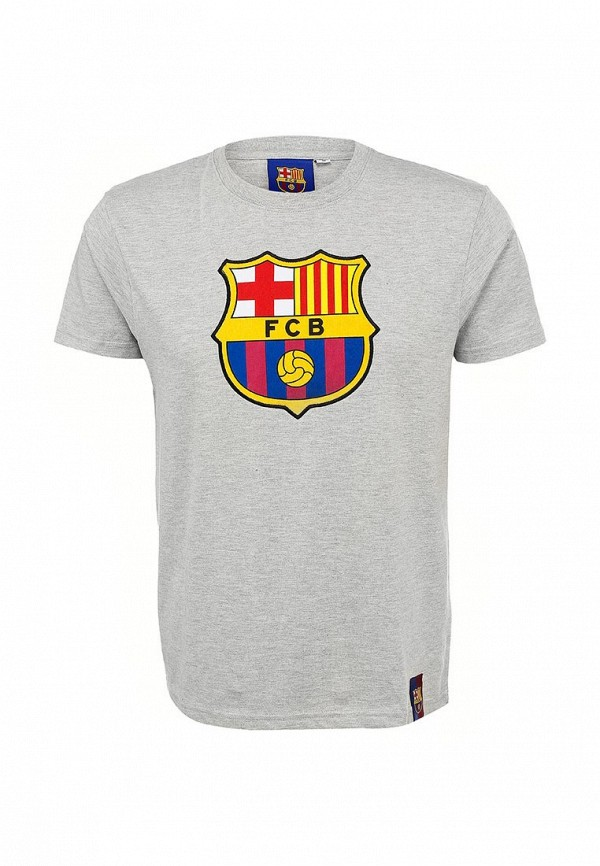 Футболка FC Barcelona. Цвет: серый