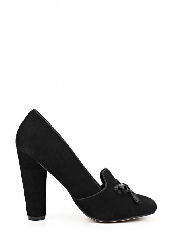 фото Туфли-лоферы женские на каблуке Fornarina FO019AWAEG67, черные