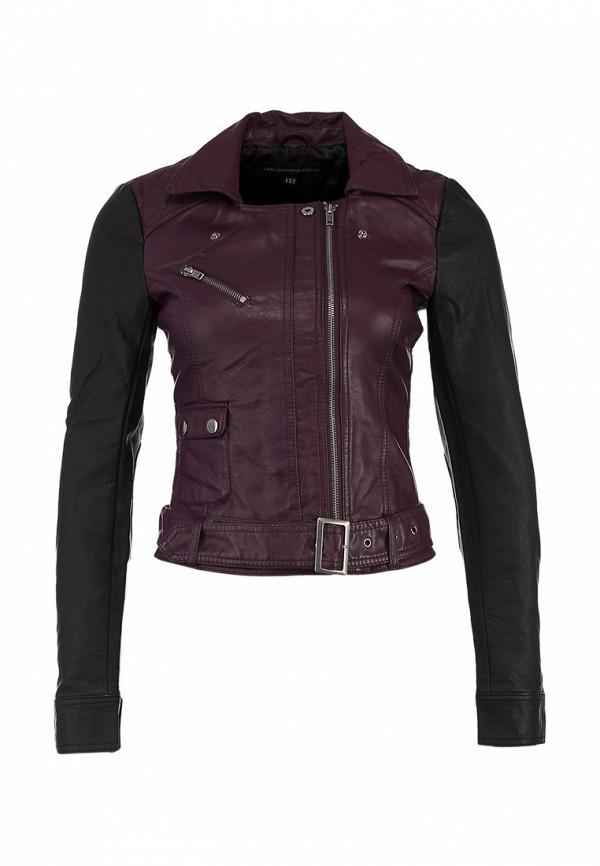 Куртка кожаная French Connection FR003EWJJ456. Цвет: бордовый