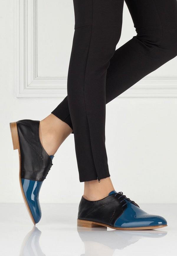 фото Полуботинки женские Fratelli Rossetti FR951AWAYY70, черные/синие (кожа-лак)