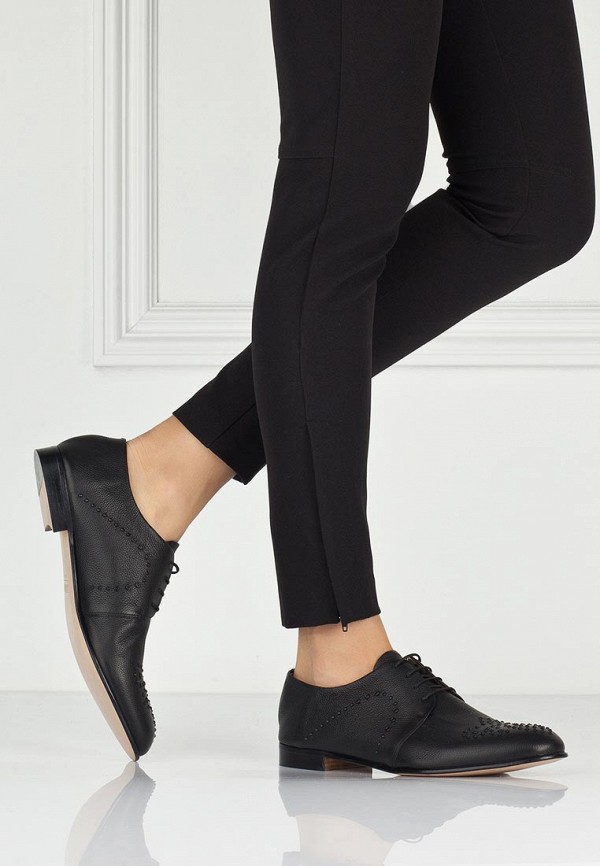 фото Полуботинки женские Fratelli Rossetti FR951AWAYY73, черные кожаные