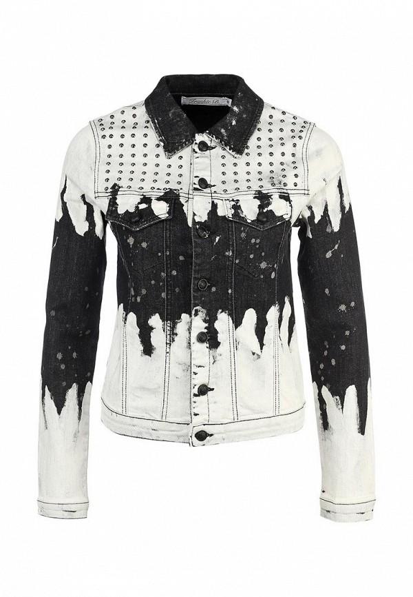 Куртка джинсовая Frankie B FR952EWJH452. Цвет: белый, мультиколор