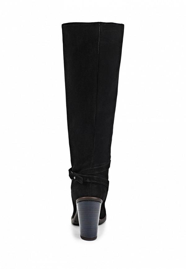 фото Сапоги женские на каблуке Gant GA121AWACV08, черные замшевые
