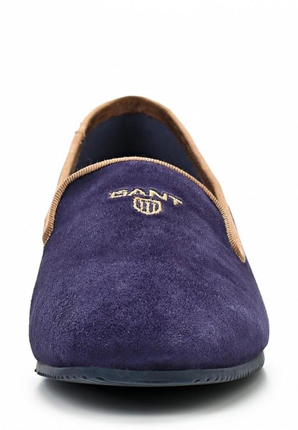 фото Лоферы женские на каблуке Gant GA121AWAVB98, фиолетовые