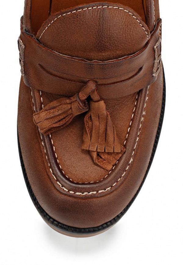 фото Лоферы на толстом каблуке Gant GA121AWIO114, коричневые