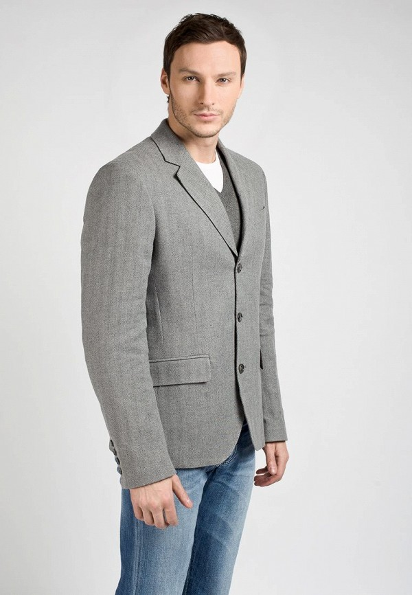 Пиджак Galliano GA626EMAY225. Цвет: серый