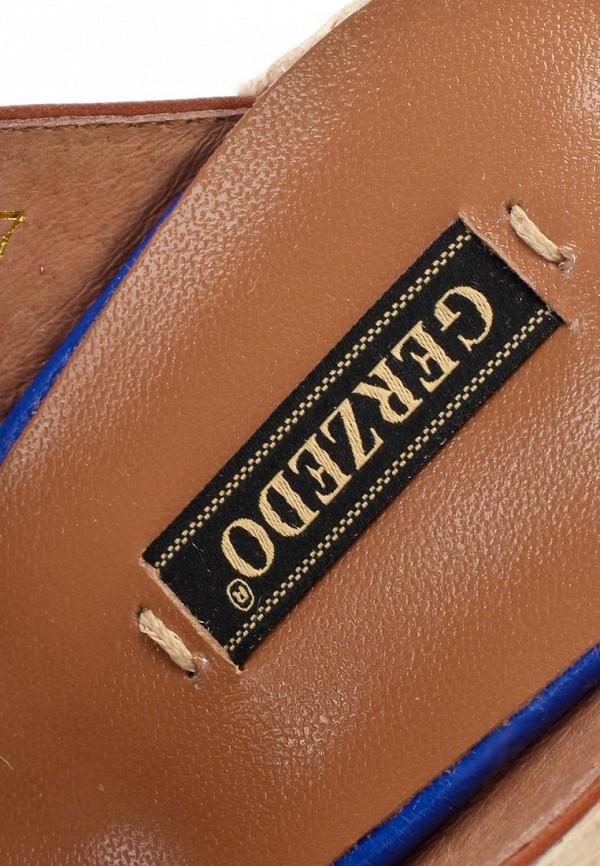 фото Эспадрильи женские на платформе Gerzedo GE007AWABB49, коричнево-синие