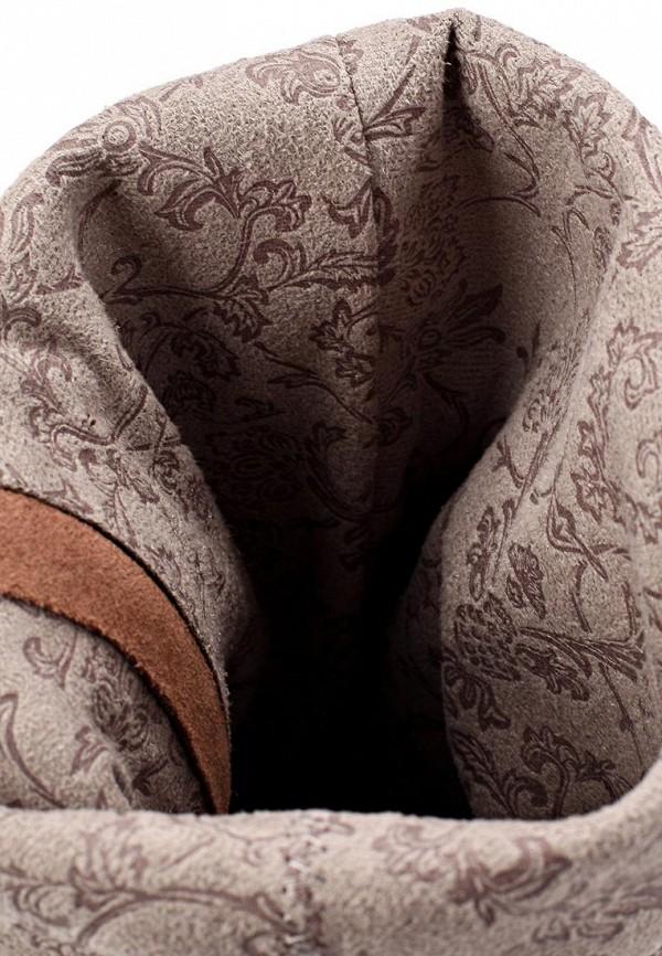 фото Сапоги на высоком каблуке Gerzedo GE007AWCOZ79, коричневые (кожа, замша)