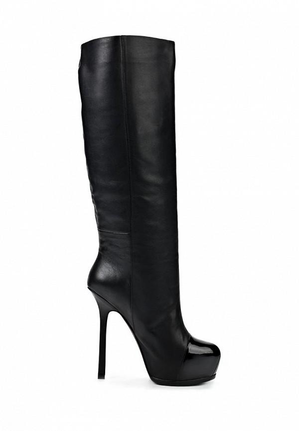 фото Сапоги женские на платформе и шпильке Gerzedo GE007AWCOZ85, черные (кожа)