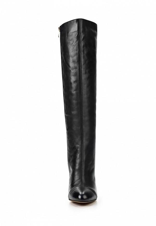 фото Сапоги женские на шпильке Gerzedo GE007AWCOZ96, черные кожаные