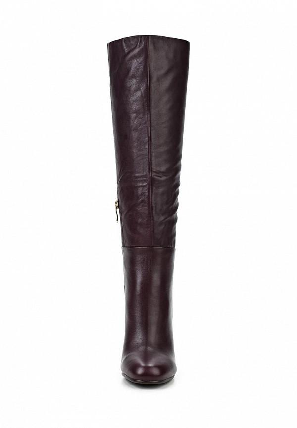 фото Сапоги на высоком каблуке Gerzedo GE007AWCOZ99, бордовые кожаные