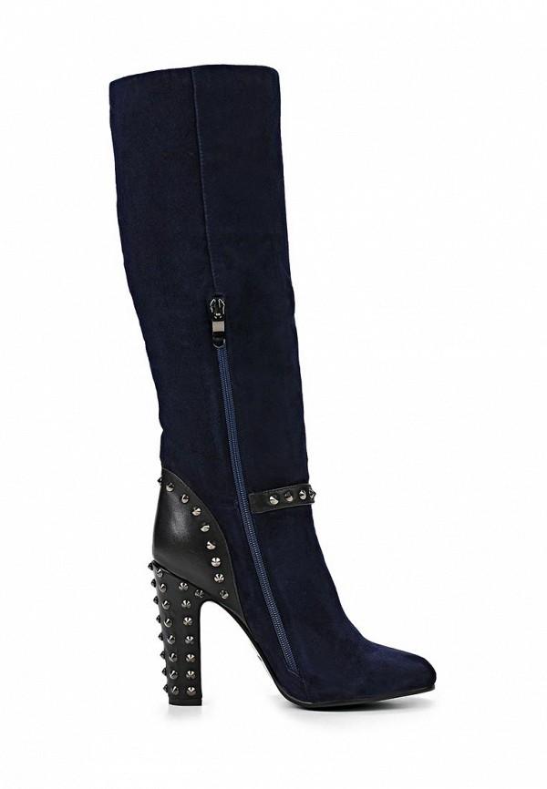 фото Сапоги женские на высоком каблуке Gerzedo GE007AWCPA00, темно-синие