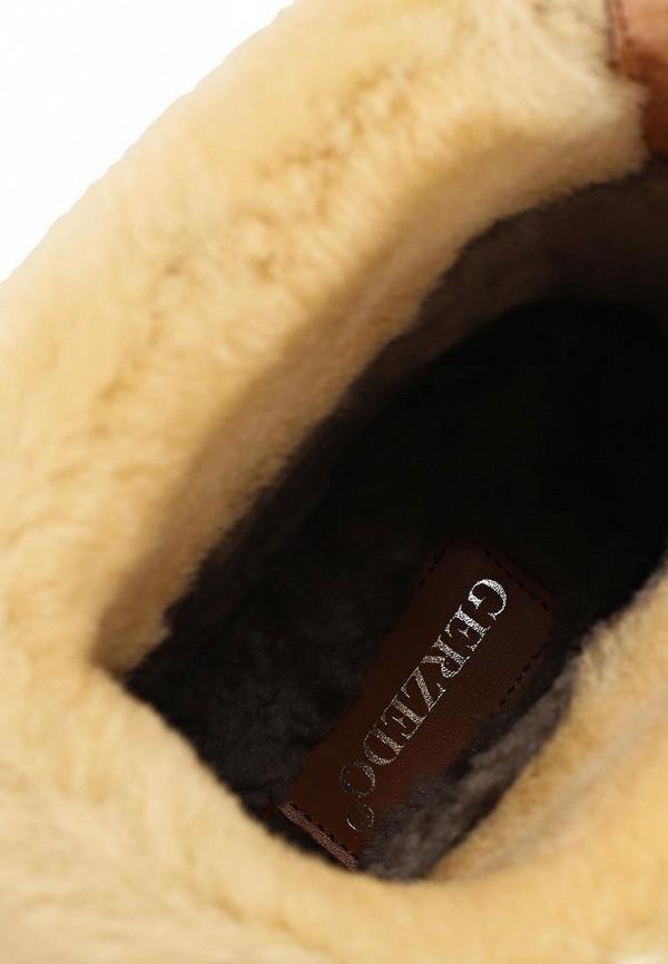 фото Женские полусапожки на платформе Gerzedo GE007AWCPA03, коричневые