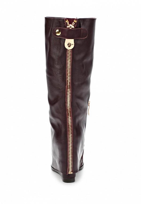 фото Сапоги женские Gerzedo GE007AWCPA06, коричневые кожаные
