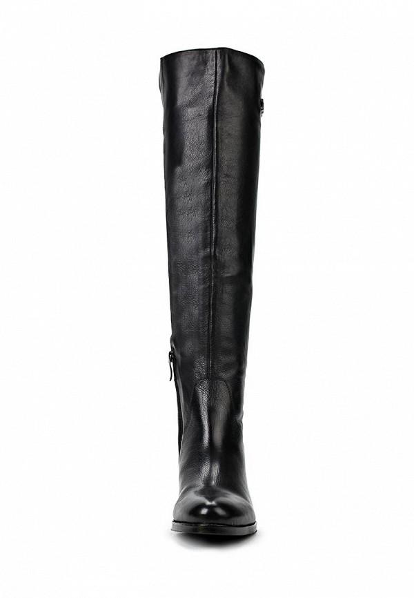 фото Женские сапоги-ботфорты Gerzedo GE007AWCPA08, черные кожаные