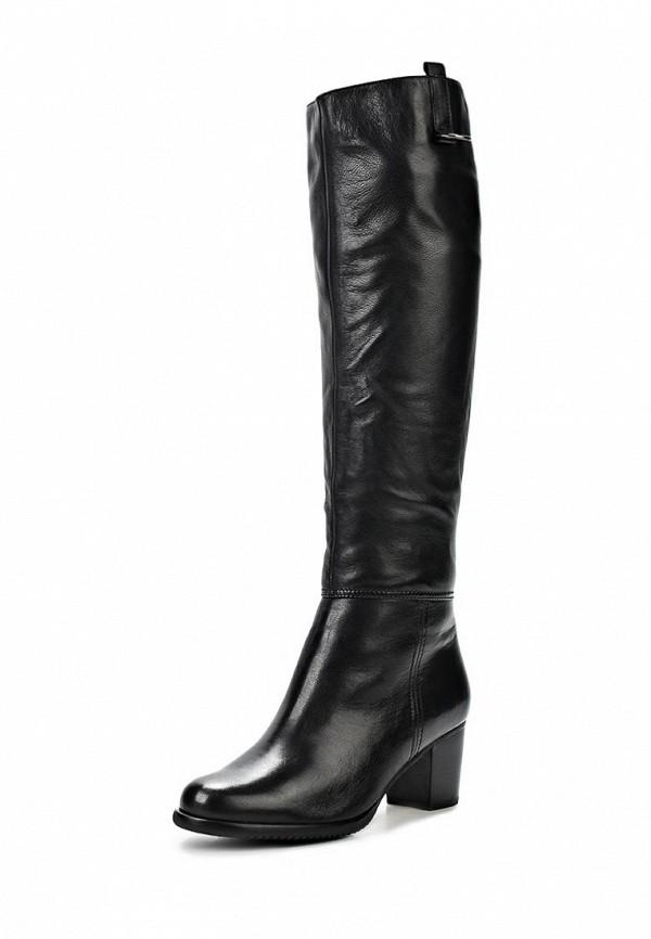 фото Сапоги женские на толстом каблуке Gerzedo GE007AWCPA10, черные